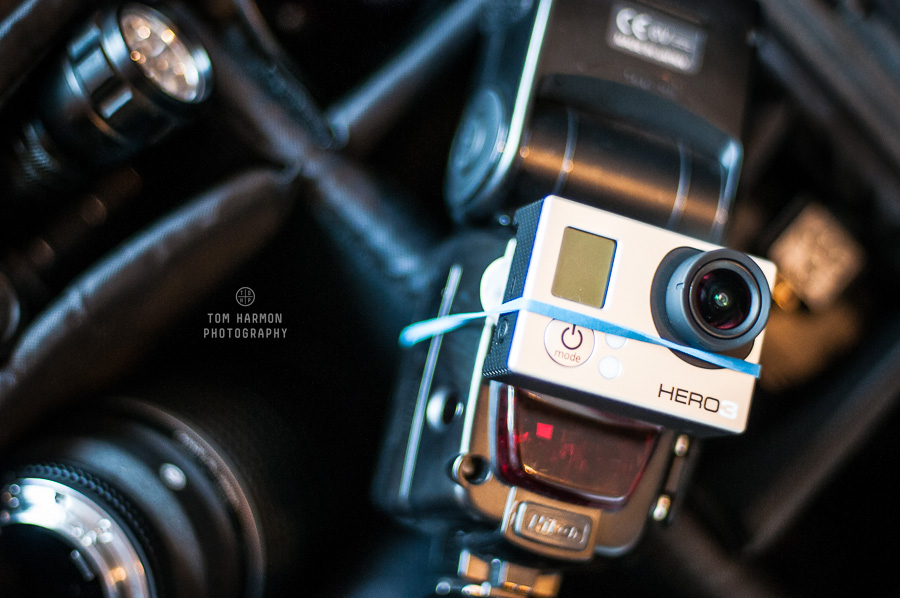 GoPro hero 3 attached to a DSLR