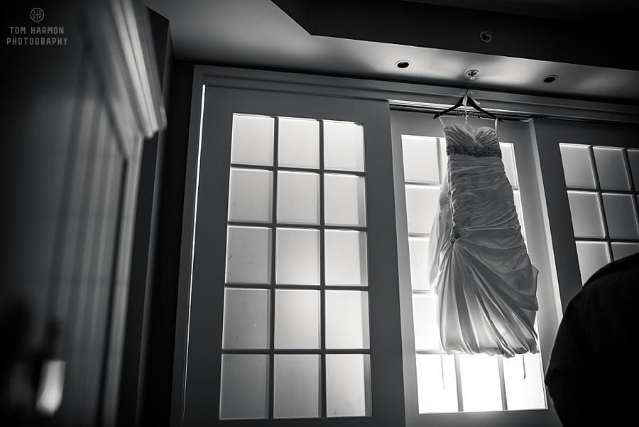 Wedding dress at Watkins Glen Harbor Hotel