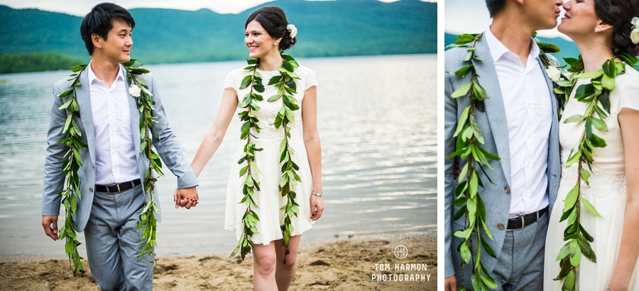 lake in vermont wedding