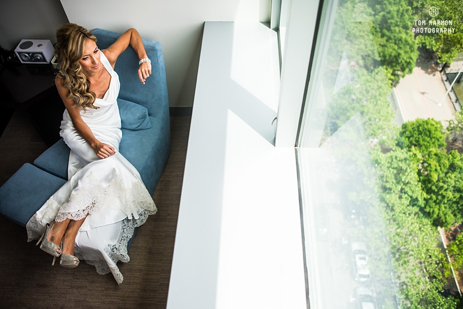 bride at W hotel hoboken