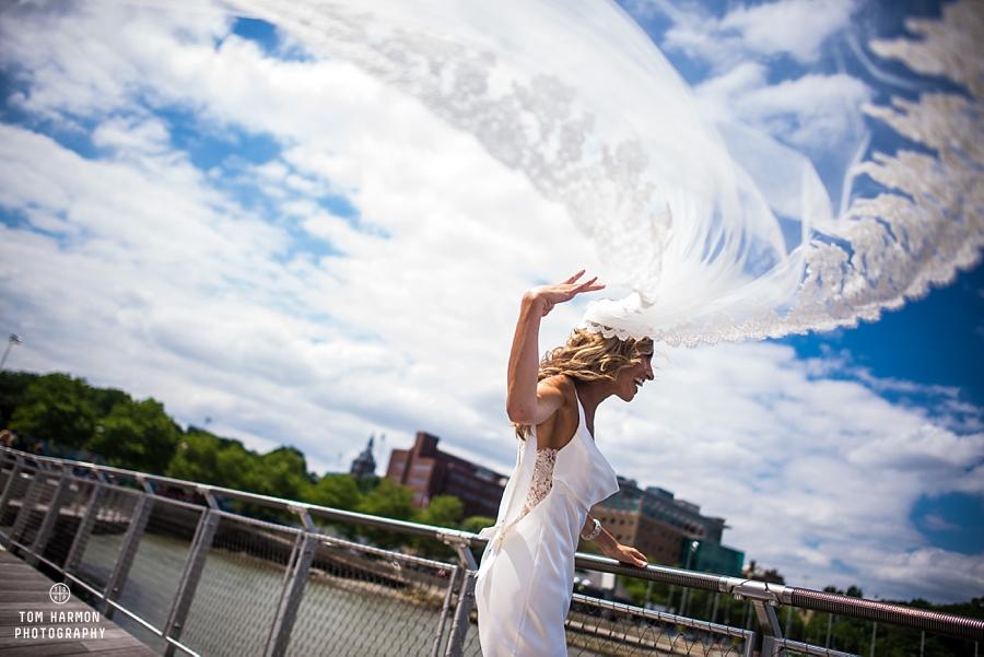 brides viel in the wind