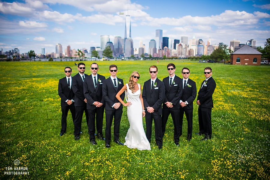 wedding party liberty state park