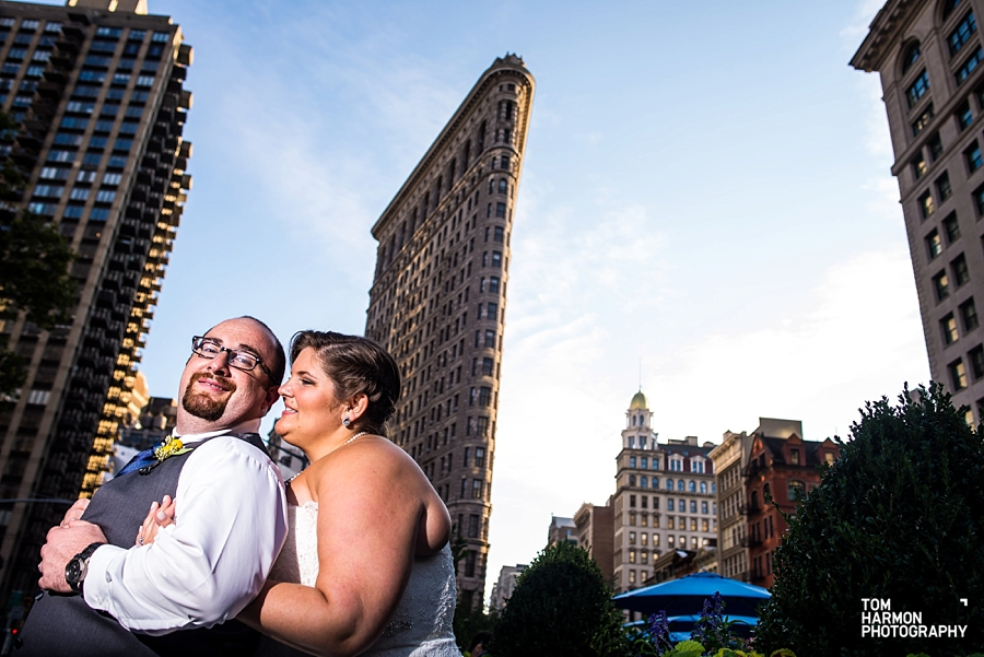 flat iron building wedding