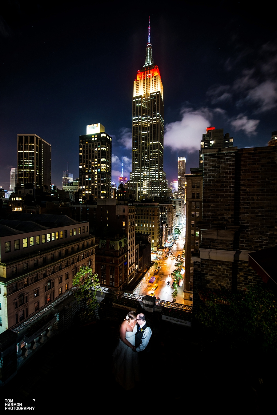 midtown loft and terrace wedding reception