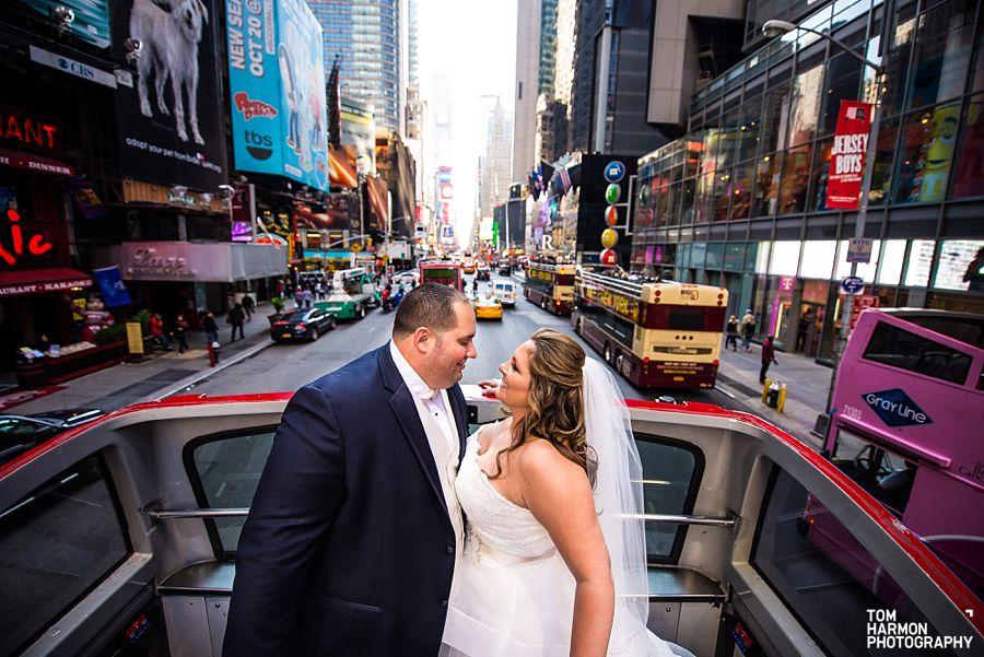 double decker bus wedding party