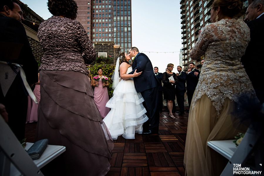 midtown loft and terrace ceremony