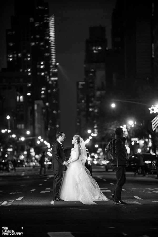 bride and groom new york city street