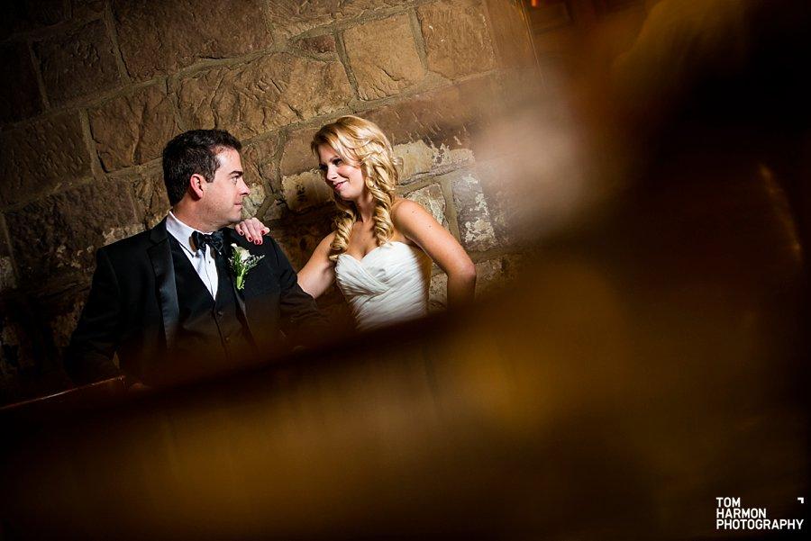 brownstone wedding couple