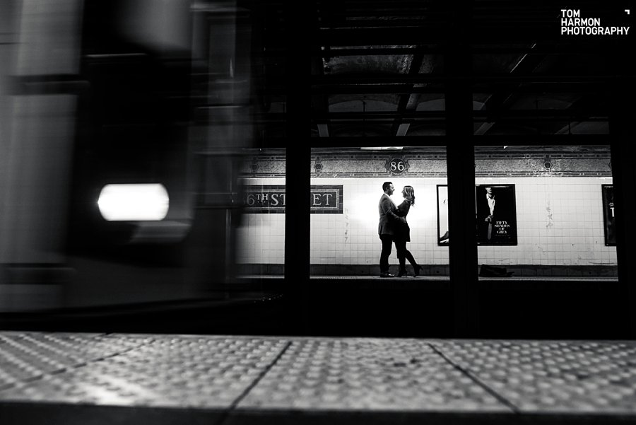 subway engagement pictures