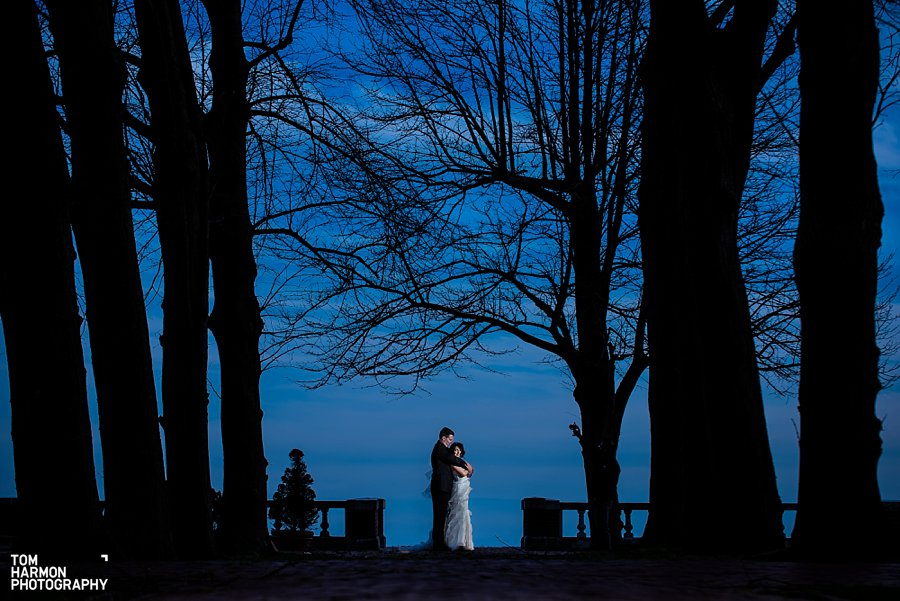 bourne mansion wedding couple