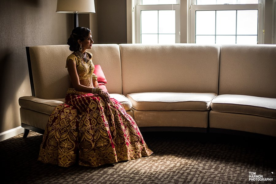 indian bride at westin governor morris