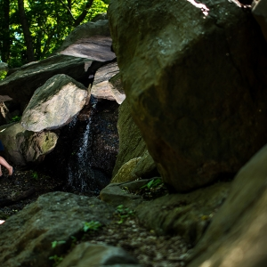 Anne and Kieran Found A Hidden Waterfall at their Central Park Engagement.