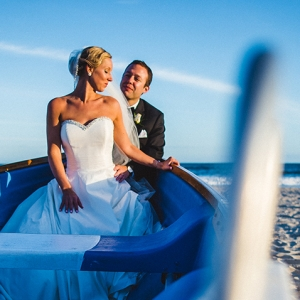 Kelly and Charlie's Ocean City Yacht Club Wedding On A Boat To Nowhere.