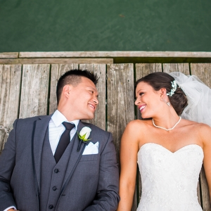Off and On Rain Couldn't Damper Brie and Adam's Belhurst Castle Wedding.
