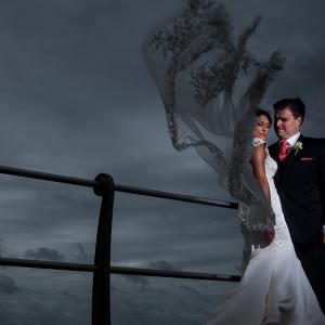 Ashley and Rob's Clarks Landing Wedding Was Neck-Breaking, Rain-Drenching Good.