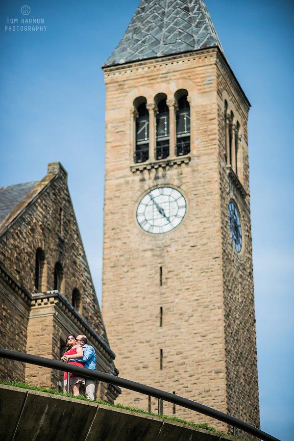 Clock tower at cornell university