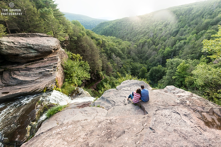 The top of kaaterskill falls NY