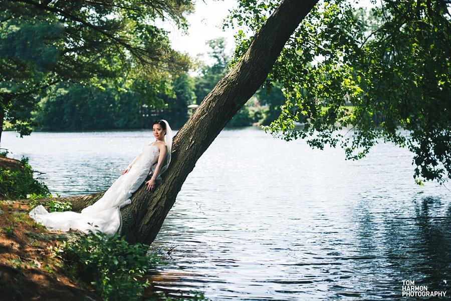 wedding at estate at farrington lake