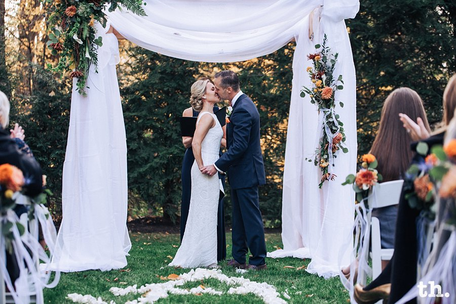 backyard Connecticut wedding