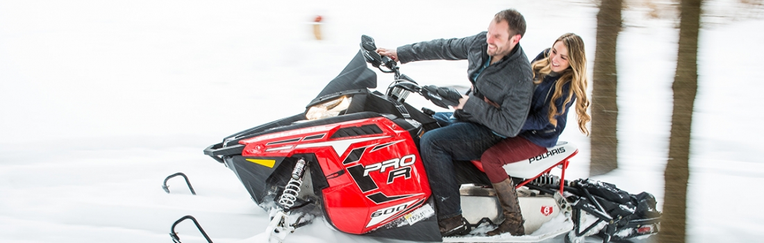You Need Snow For Snowmobiles. You Get Plenty Of Both With Erica and Dan's Cortland Engagement.