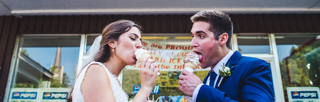 Emily and Tom's St Lawrence University Wedding Was As Sweet As Ice Cream.