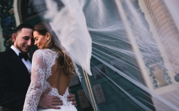 Deanna and Anthony's Bourne Mansion Wedding