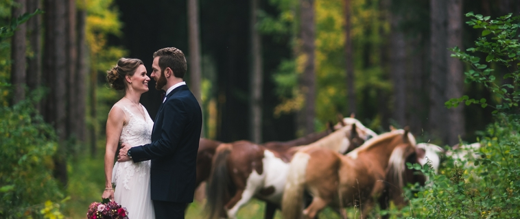 Amy and Craig's Skyline Lodge Wedding.