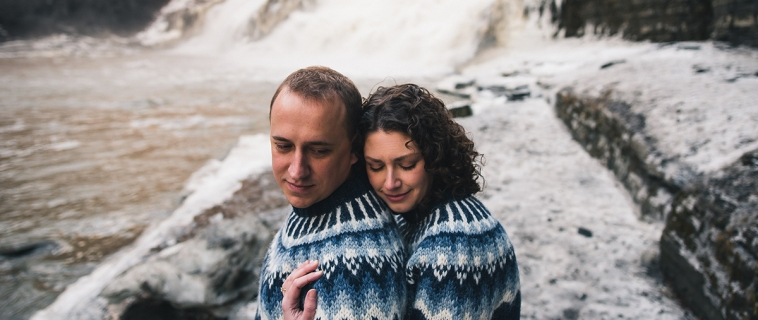 Ainsley and Zach's Ithaca College Engagement Was Not Iceland. It Was Ice Land.