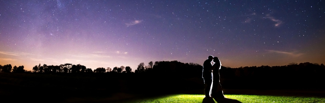 The Milky Way Made An Appearance At Allison and Andrew's Ballyowen Golf Club Wedding.