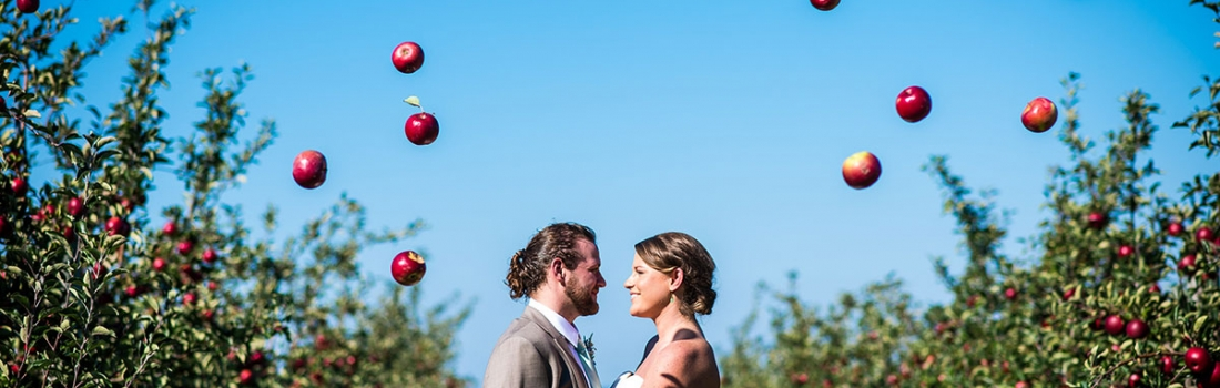 An Apple A Day Makes For A Long And Happy Marriage. Jessica and Chris's Apple Country Retreat Wedding.