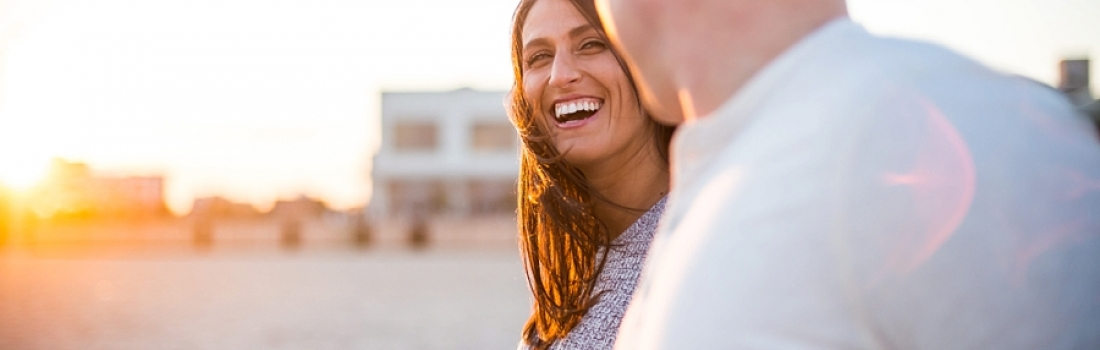 Ashley and Rob's Sunny Allaire State Park and Asbury Park Engagement.
