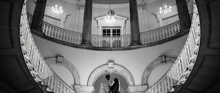 Kayla and Chris Got Engagement Photos Where No Couple Has Before. A NYC City Hall Engagement.
